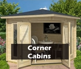 Luxurious log cabins for sale delivery within 7 days for Corner garden rooms uk