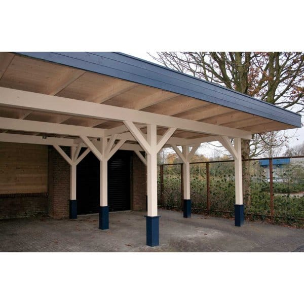 Colorado Flat Roof Carport : Bertsch triple carport m large mm glu lam posts