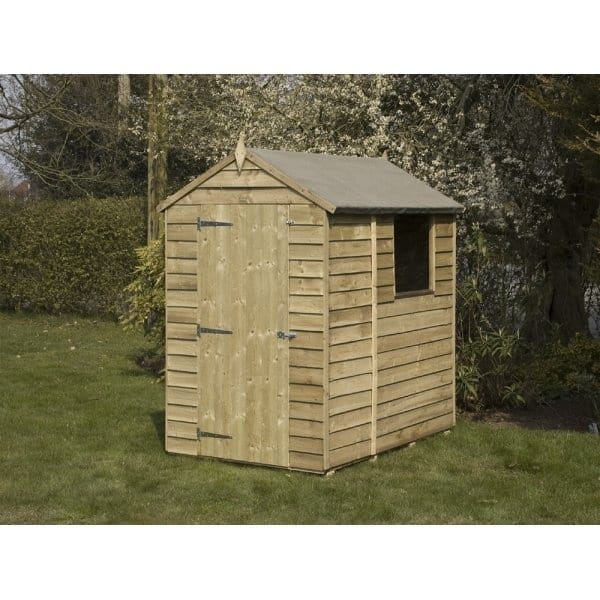 Rowlinson 6x4 overlap shed for Garden shed 6x4