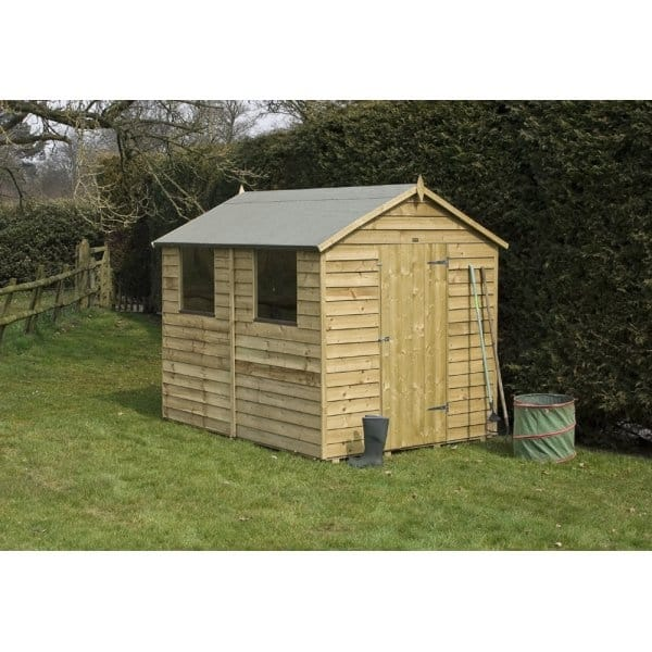 Rowlinson 8x6 overlap shed for Garden shed 8x6