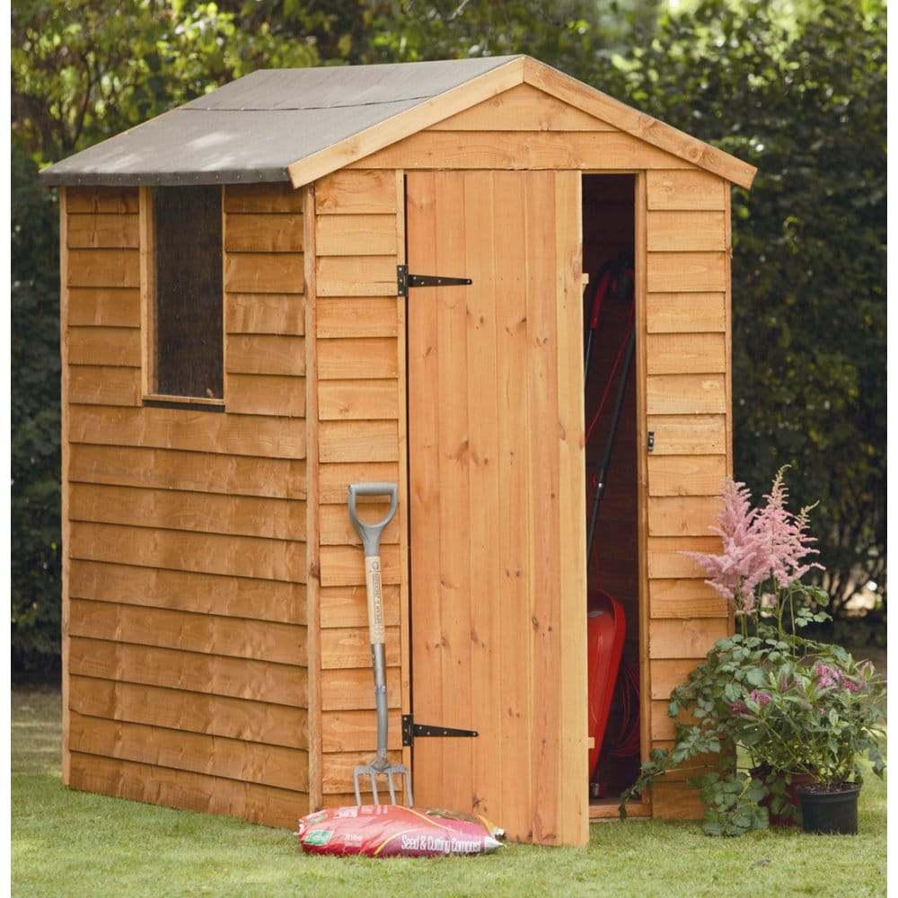 Forest garden 6x4 overlap apex shed for Garden shed 6x4 sale