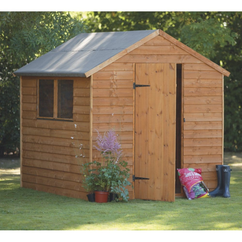 Forest garden 8x6 premium overlap shed for Garden shed 8x6