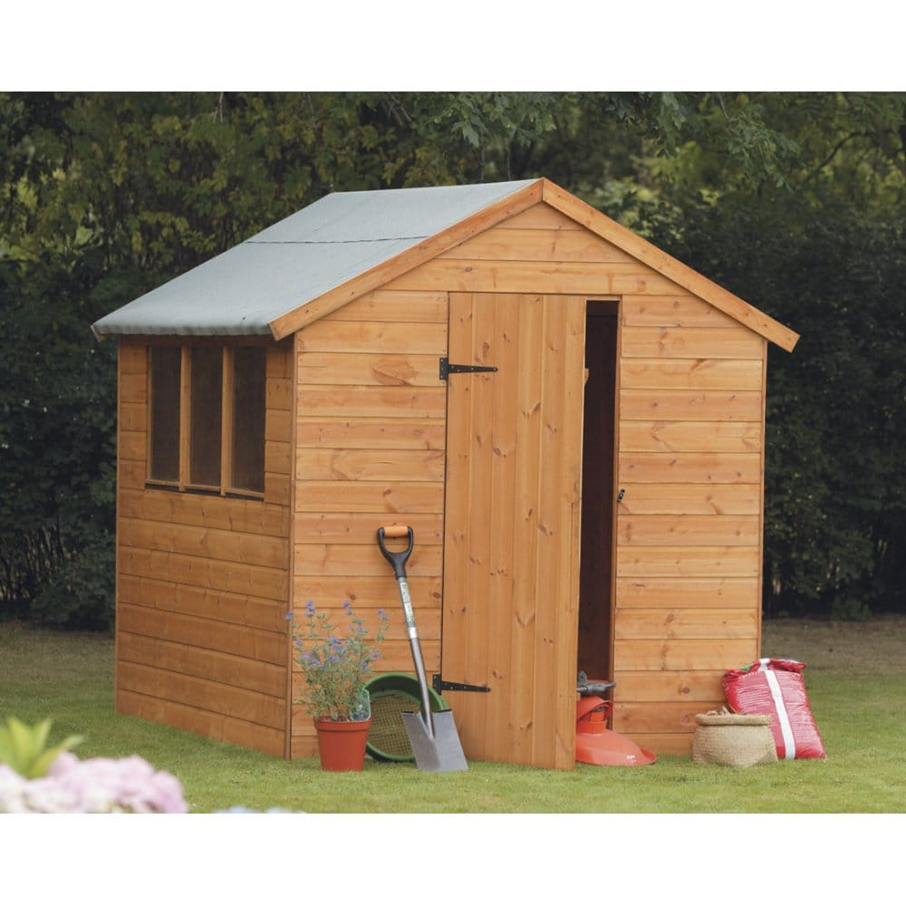 Forest garden 8x6 shiplap apex shed for Apex garden sheds