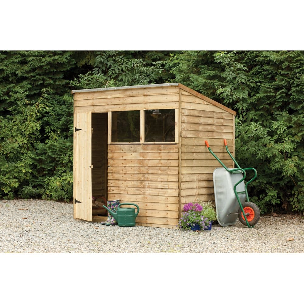 Forest garden shiplap pent roof shed 7x5 simply log cabins for Garden shed 7x5