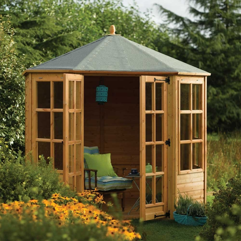 rowlinson ryton 8x8 octagonal summer house. Black Bedroom Furniture Sets. Home Design Ideas