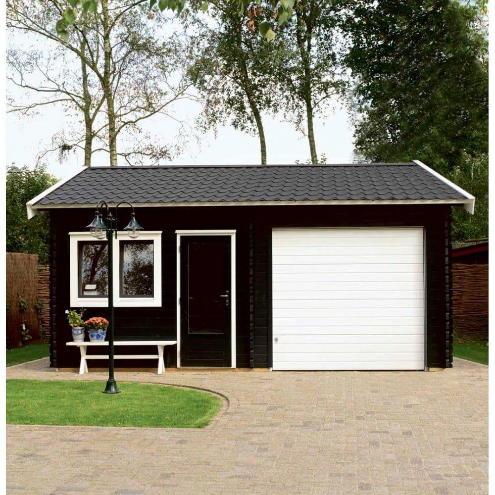 Lugarde birmingham log cabin garage footprint 5m x 6m two for Garages and workshops
