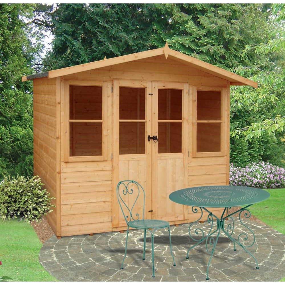 Summer Garden House: Haddon Garden Summerhouse 7ft X 5ft Double Doors
