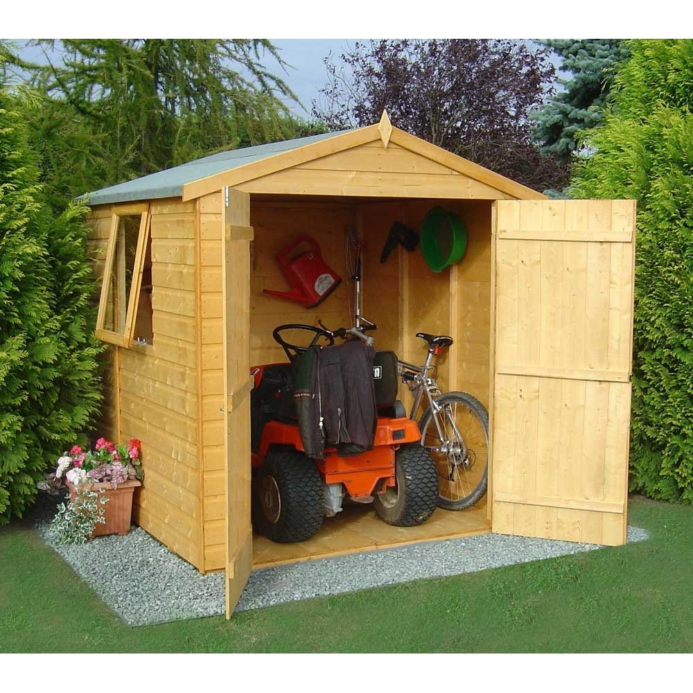 Plans for sheds rowlinson 4x6 double door wooden shed for Jardin 4x6 shed