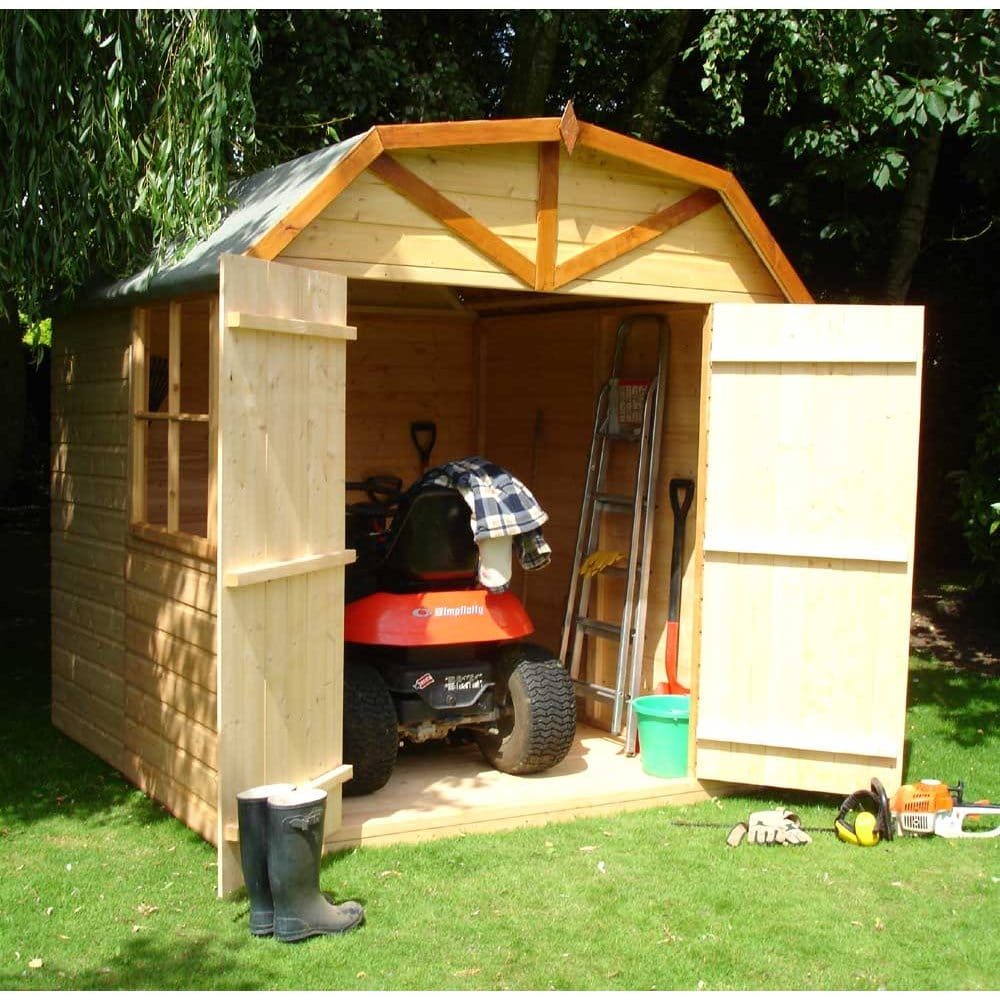 Barn 7x7 garden shed high roof double doors for Garden shed 7x7