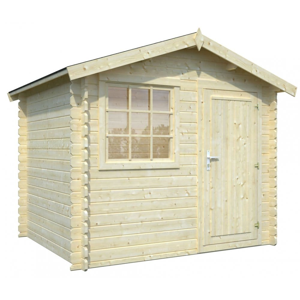Whitewood Roma Log Cabin With Offset Front Window