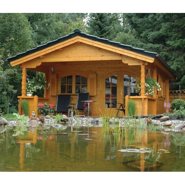 Bertsch Mississippi Log Cabin 4 5m X 4 5m With 2 0m