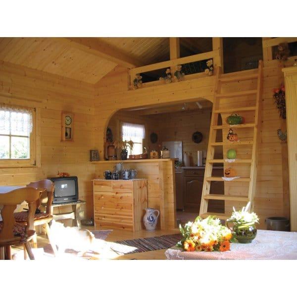Bertsch Ransom Multi-Room Log Cabins with Mezzanine Floor ...