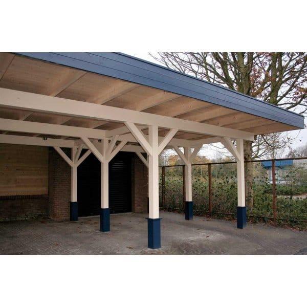 Bertsch triple carport x large 120mm glu lam posts for Carport roof pitch