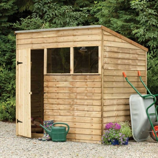 Forest Garden Shiplap Pent Roof Shed 7x5 Simply Log Cabins