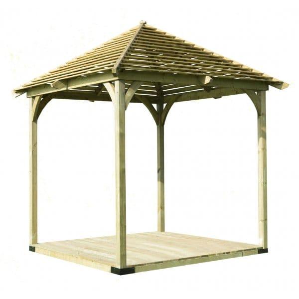 Forest garden venetian pavilion for Garden decking homebase