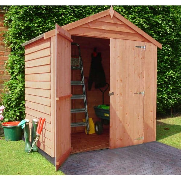 Overlap 4x6 double door shed for Garden shed 4x6