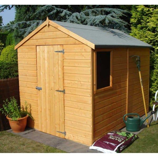 Shire Durham 8ft X 6ft Garden Shed Single Door