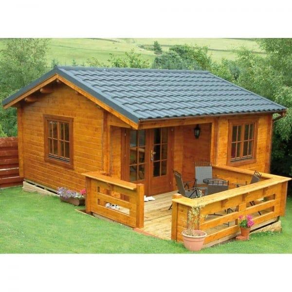 Bertsch Utah Log Cabin Featuring Optional Veranda