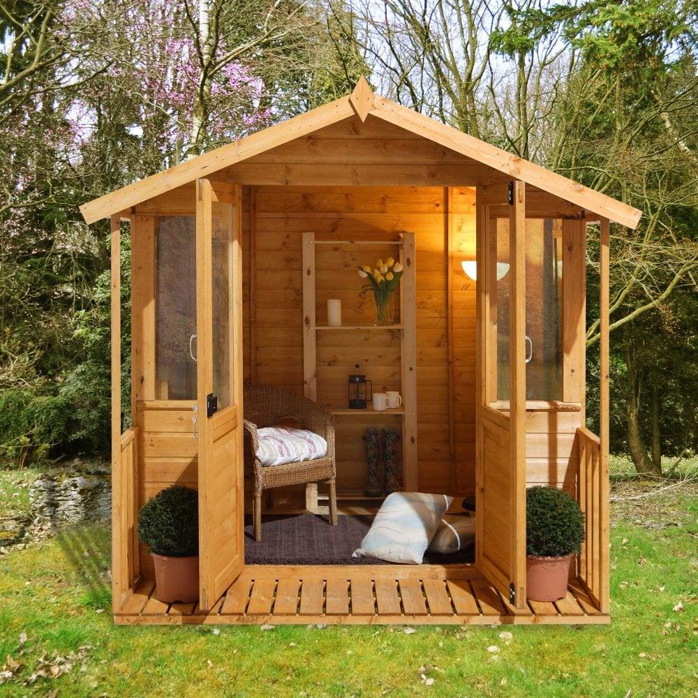 Relaxed Garden Summer House: Forest Garden Maplehurst 7x7 Summer House