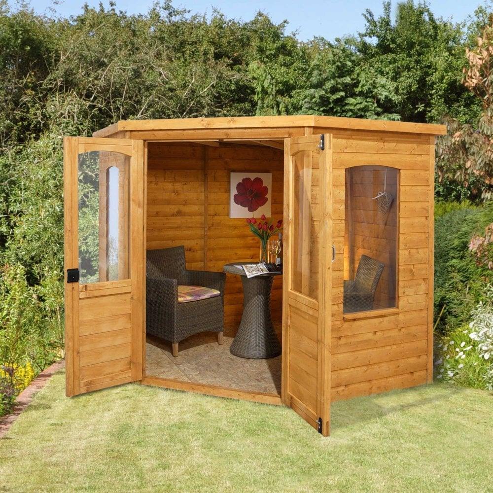 Summer Garden House: Forest Garden Cranbourne 7x7 Corner Summer House