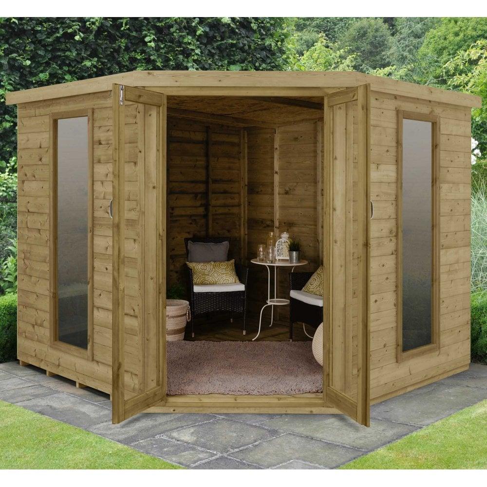 Summer Garden House: Forest Arlingto 8x8 Summer House