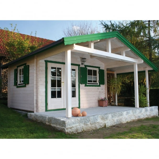 Atlanta Log Cabin with Front Canopy