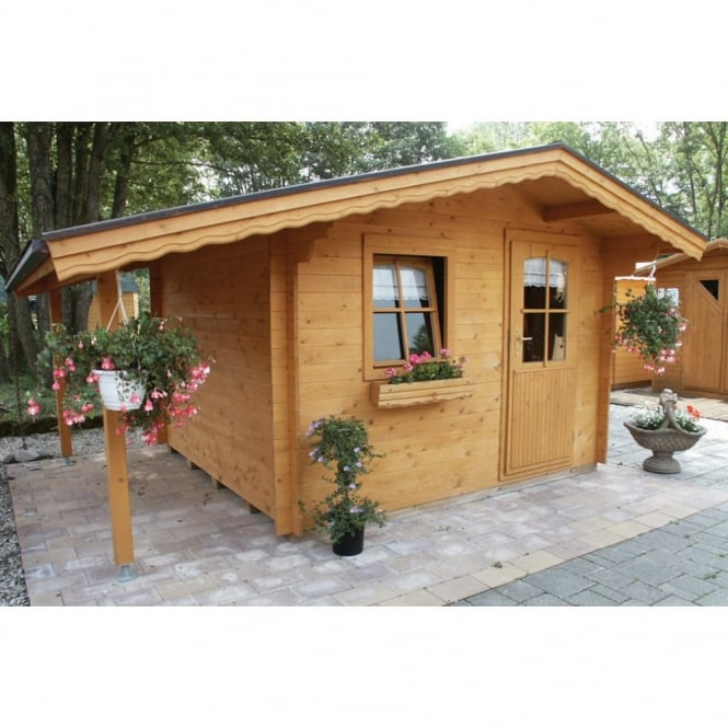 Bertsch Bern Log Cabin with Front Canopy