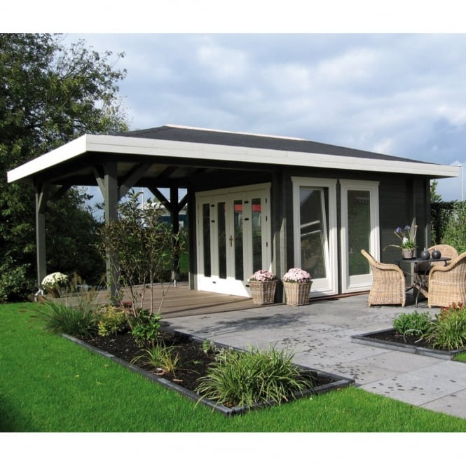 Chicago 58mm Wall Cabin with Large Veranda