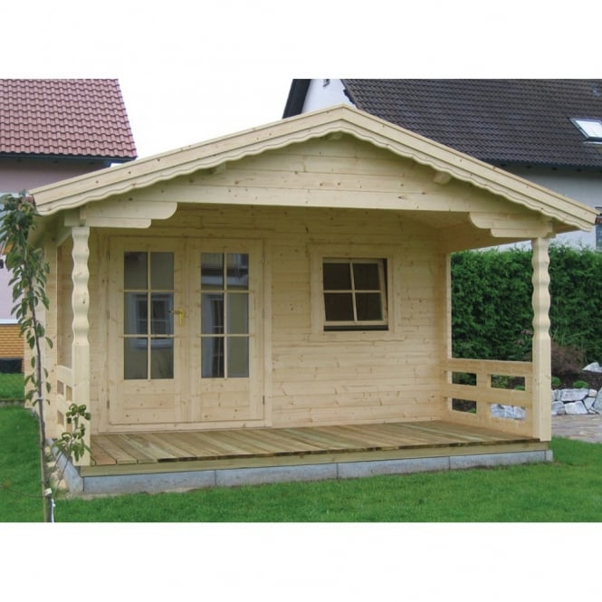 Bertsch Dakota Log Cabin with Roof Canopy