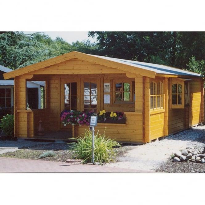 Glasgow 70mm Wall Log Cabin