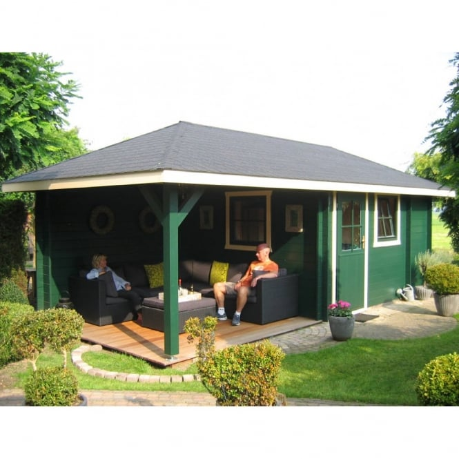 Bertsch Terni Log Cabin With Seated Canopy Area