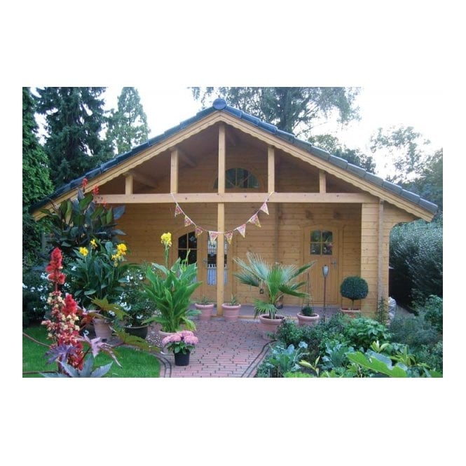 Montgomery Log Cabin With Mezzanine Floor