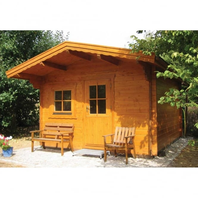 Bertsch Tulin 33mm Wall Log Cabin with Canopy
