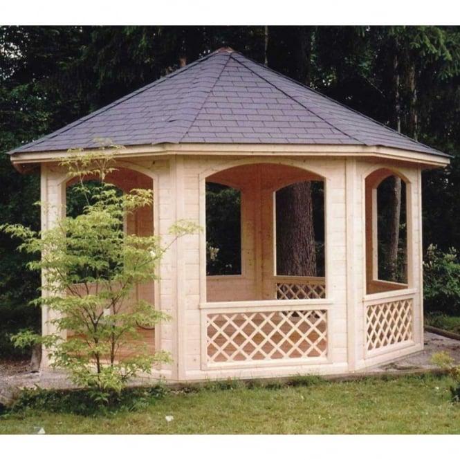Lille Octagonal Pavilion Gazebo with Trellis Sides