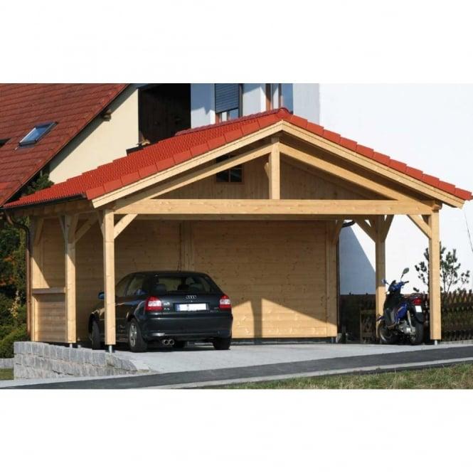 bertsch presitige carport 6m x 5m double post and beam build. Black Bedroom Furniture Sets. Home Design Ideas