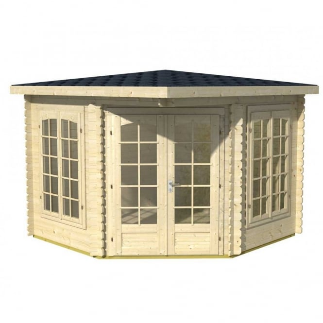 Gudrum Melena Corner Summer House 3.0m x 3.0m Low Ridge