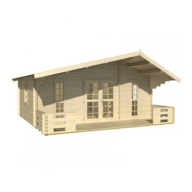 Whitewood Menorga Log Cabin With 3 Rooms 44mm Walls