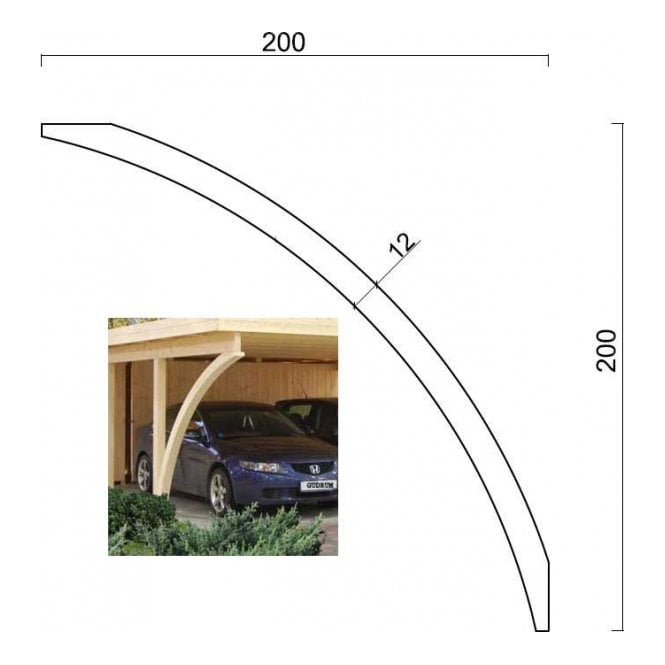 Carport arched posts for gudrum carports glu lam construction for Stand alone carport designs
