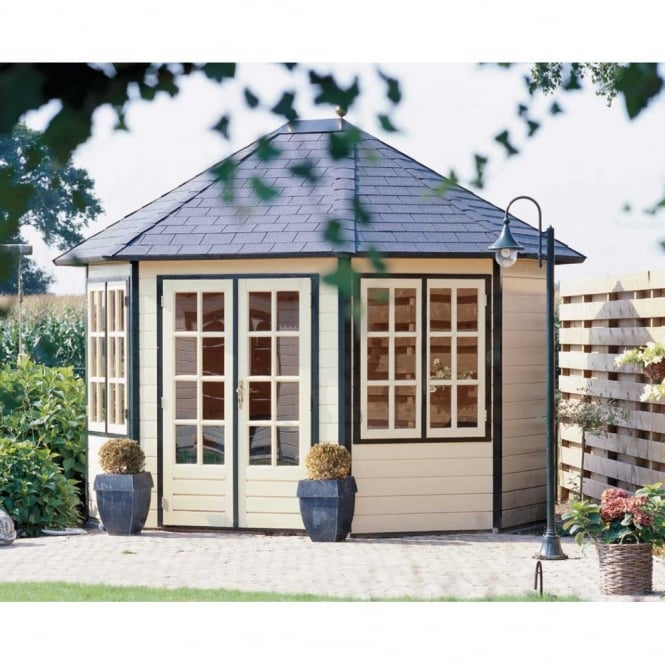 Lugarde Prima Sebia Summer House Pavilion 3.5m x 3.0m Extended Octagon