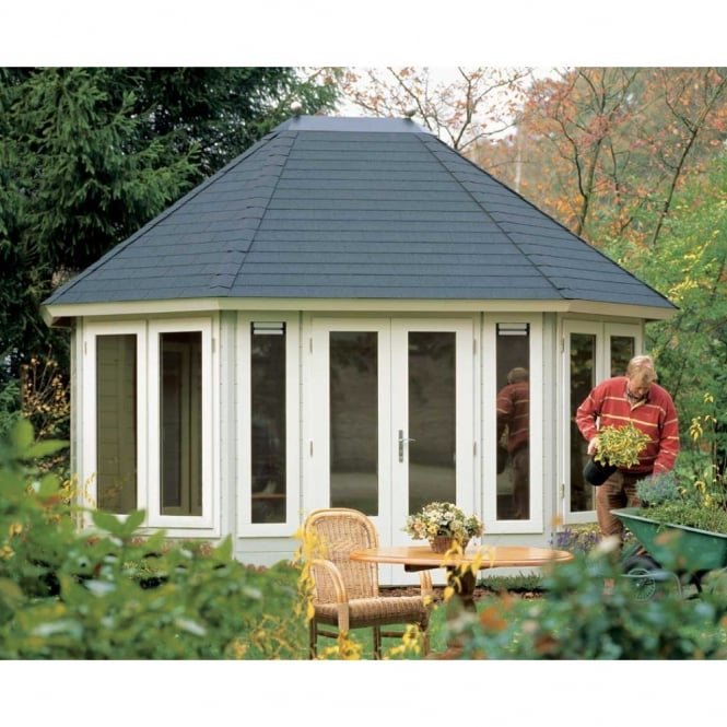 Lugarde Prima Josephine Summer House Pavilion 4.45m x 3.5m Extended Octagon
