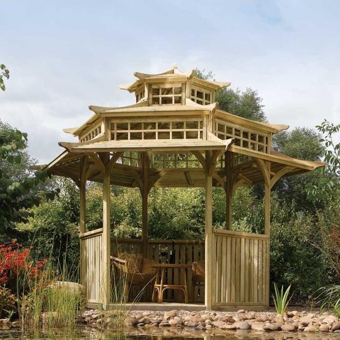 Rowlinson Hexagonal Oriental Pagoda