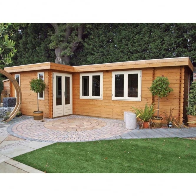 Lugarde Bordeaux Log Cabin 3.5m x 7.0m