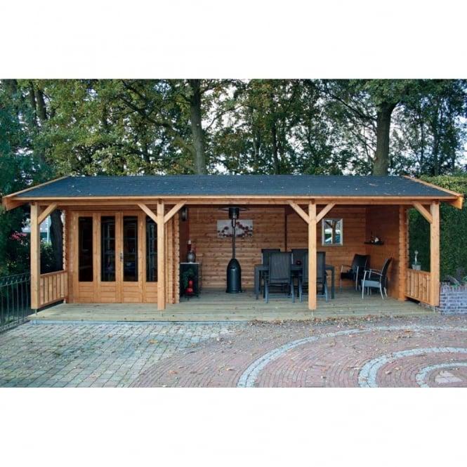 Kingswood Log Cabin 4.0m x 7.5m
