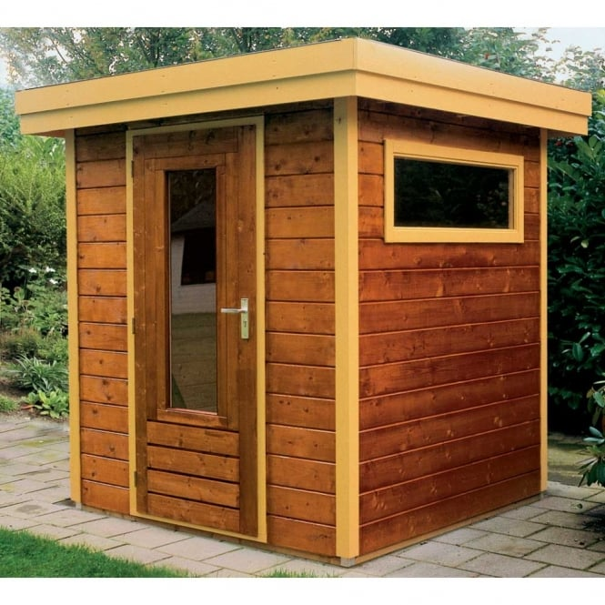 Lugarde Prima Thomas Flat Roof Garden Shed Available In 2 Sizes