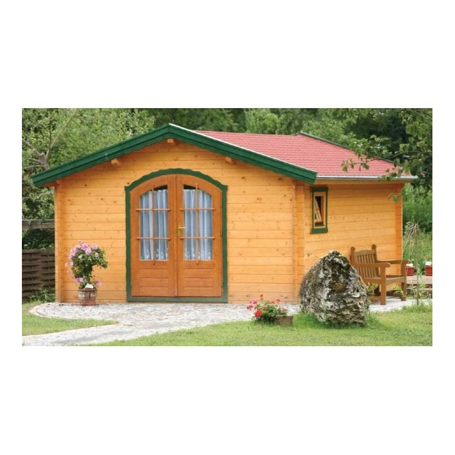 Bertsch Kassel Log Cabins with Arched Double Doors