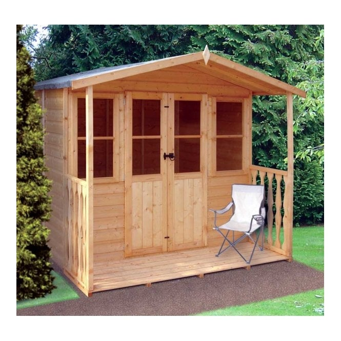 Shire Houghton Summerhouse Double Doors - 2 x Windows