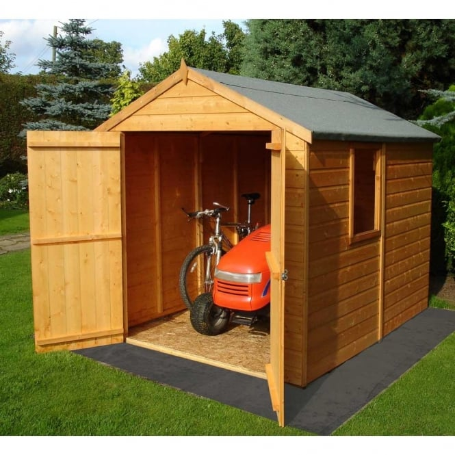 Warwick 8ft x 6ft Garden Shed Shilap - Double Door