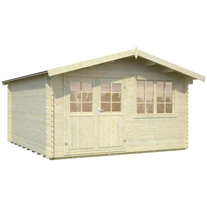 Whitewood Saale Max Log Cabin: 4.0m x 4.0m