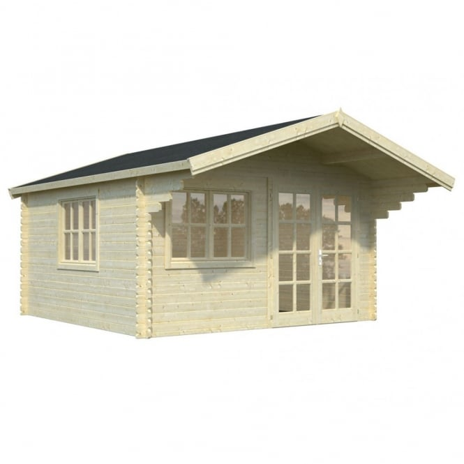 Whitewood Bailey Log Cabin 3 Sizes: 4.0m x 3.2m/ 4.0m x 4.0m / 5.0m x 4.0m