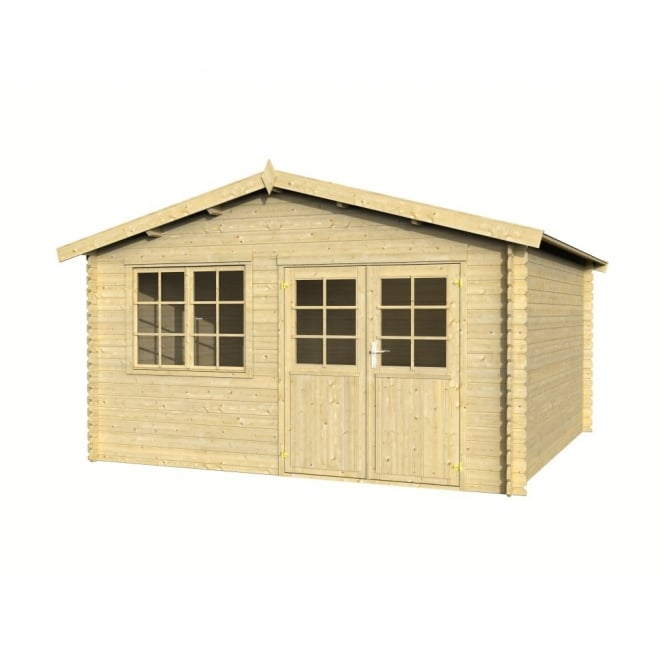 Whitewood Veronique Log Cabin: 4.2m x 4.2m